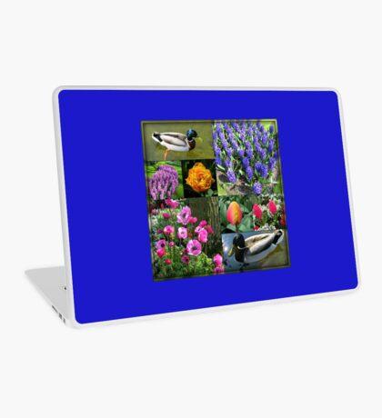 Flowers and Feathers - Keukenhof Collage Laptop Skin