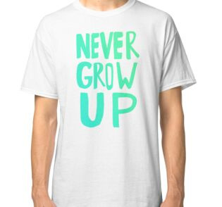Quot Never Grow Up Quot Stickers By Leah Flores Redbubble