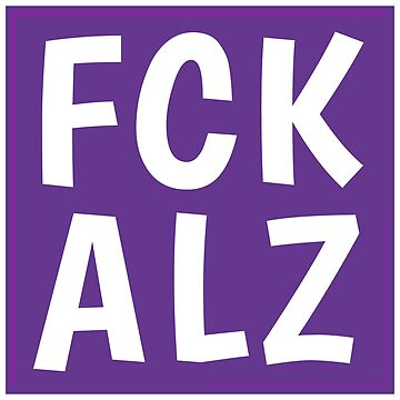 FCK ALZ Sticker (Dark Background) by fckalz