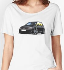 VW Golf (Mk7) GTi Black Women's Relaxed Fit T-Shirt