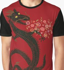 Dragon, Flower Breathing Graphic T-Shirt