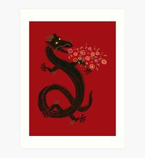 Dragon, Flower Breathing Art Print