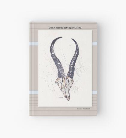 Don't deem my spirit fled (Springbok skull) Hardcover Journal