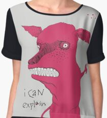 Bad Explanation Art Dog Chiffon Top