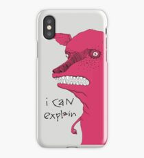 Bad Explanation Art Dog iPhone Case/Skin