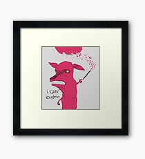 Bad Explanation Art Dog Framed Print
