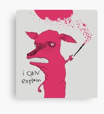 Bad Explanation Art Dog Canvas Print