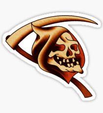 Traditional Grim Reaper Icon Sticker