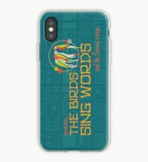 Tiki Room-Where the Birds Sing Words iPhone Case