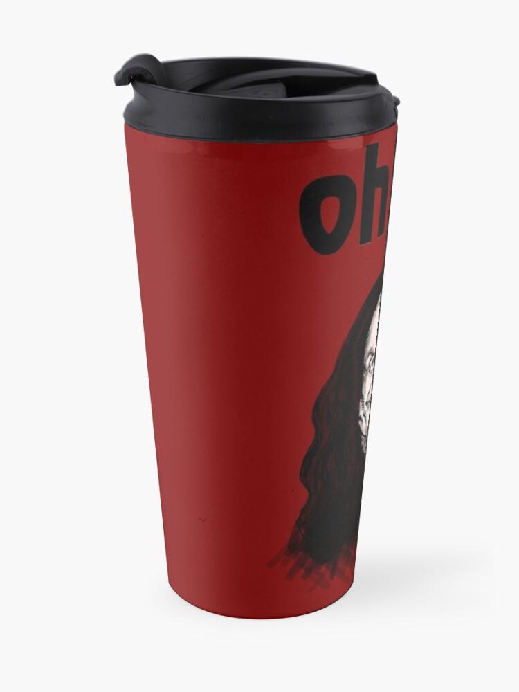 """Alternate view of """"Oh Hai""""  Travel Mug"""