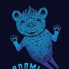Blue Berlin Bear Goes Boom by SusanSanford