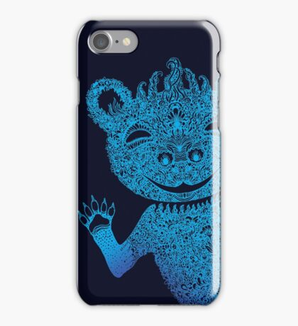 Blue Berlin Bear Goes Boom iPhone Case/Skin