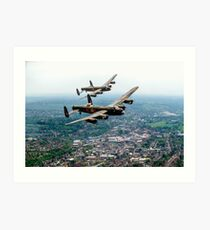 Two Lancasters over High Wycombe Art Print