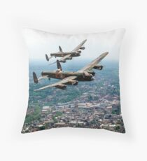 Two Lancasters over High Wycombe Throw Pillow
