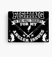 Fishing Angler Issues Canvas Print