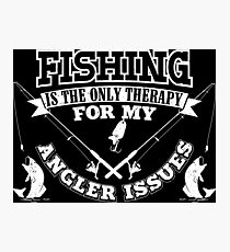 Fishing Angler Issues Photographic Print