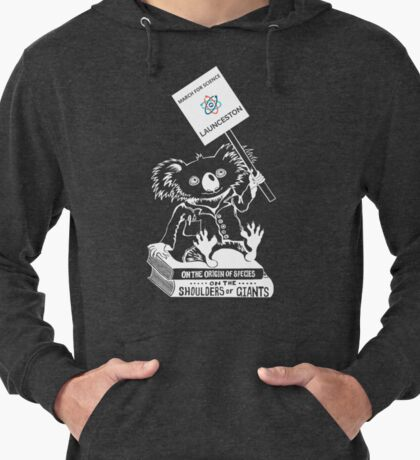 March for Science Launceston – Koala, white Lightweight Hoodie