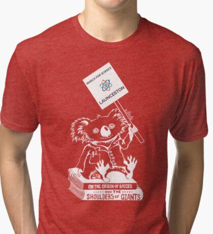 March for Science Launceston – Koala, white Tri-blend T-Shirt