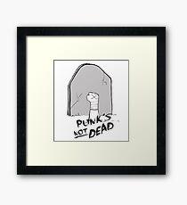 Punk's Not Dead Framed Print