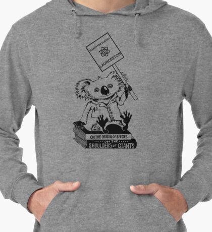 March for Science Launceston – Koala, black Lightweight Hoodie