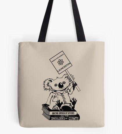 March for Science Launceston – Koala, black Tote Bag