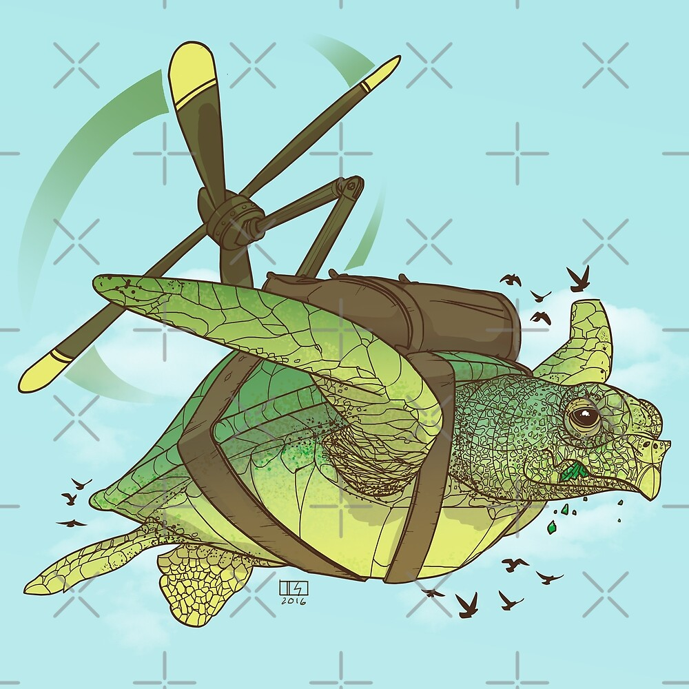 Fred the Giant Flying Laser-Eyed Turtle by Dan Simon