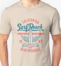 California Surf Beach Blue Paradise Unisex T-Shirt