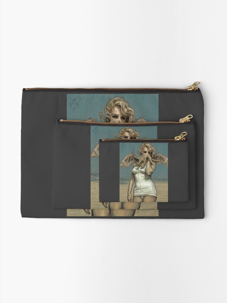 """Alternate view of """"Call of Cthulyn, 2014""""  Zipper Pouch"""