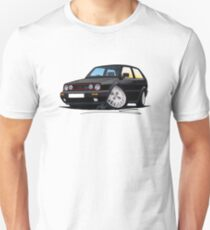 VW Golf GTi (Mk2) Black T-Shirt