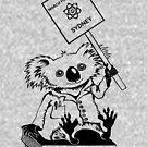 March for Science Sydney – Koala, black by sciencemarchau