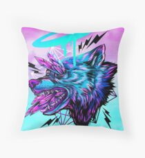 Crystal Wolf  Throw Pillow