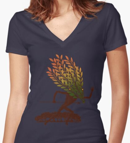 From the Wild Wood Women's Fitted V-Neck T-Shirt