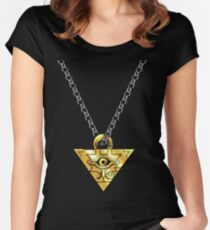 Yugi's Millennium Puzzle Women's Fitted Scoop T-Shirt