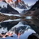A Rare Stillness at Lago Torre by Mieke Boynton