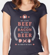 Beef, Bacon, Beer Women's Fitted Scoop T-Shirt