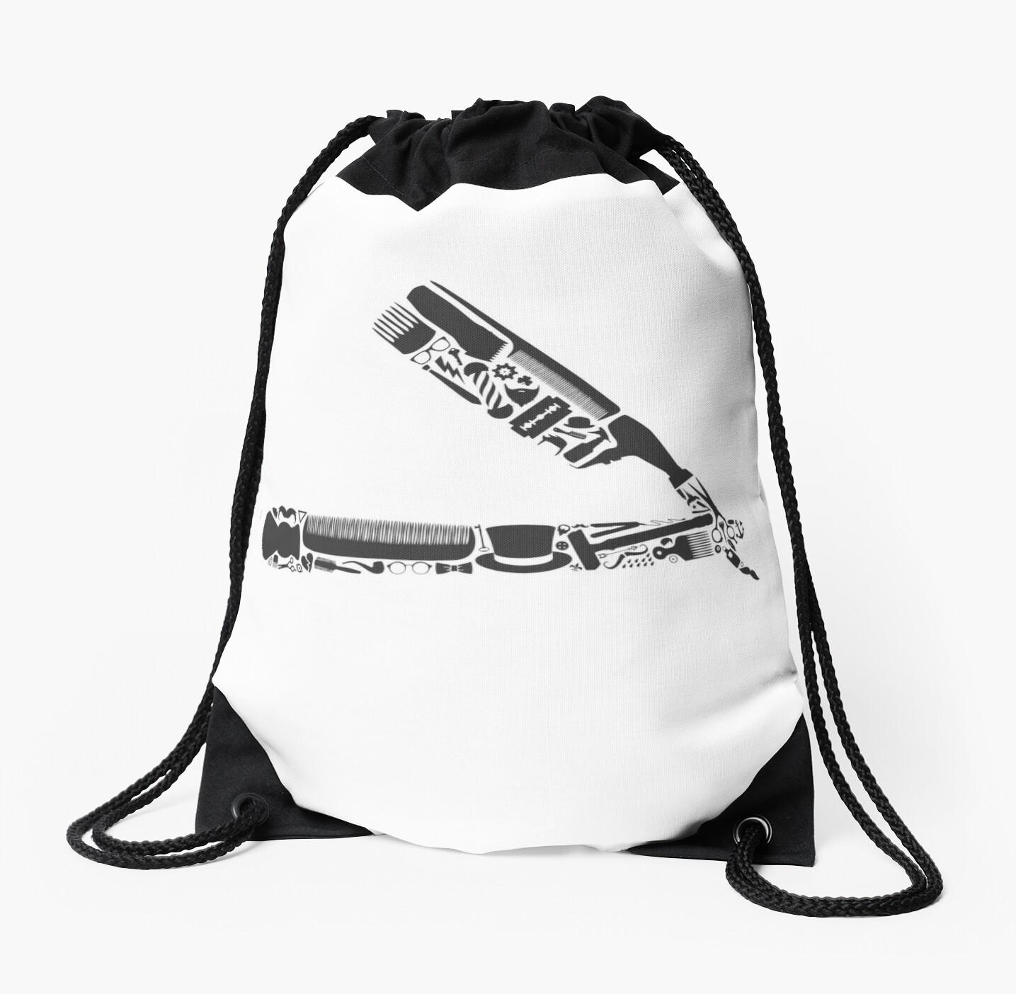 Drawstring Backpack Barbershop Equipment Shoulder Bags