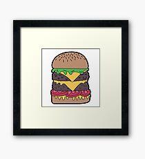 Burger Framed Print