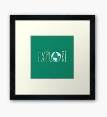 Explore the Globe III Framed Print