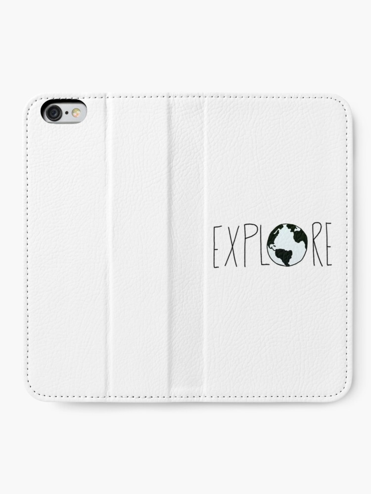 Alternate view of Explore the Globe iPhone Wallet