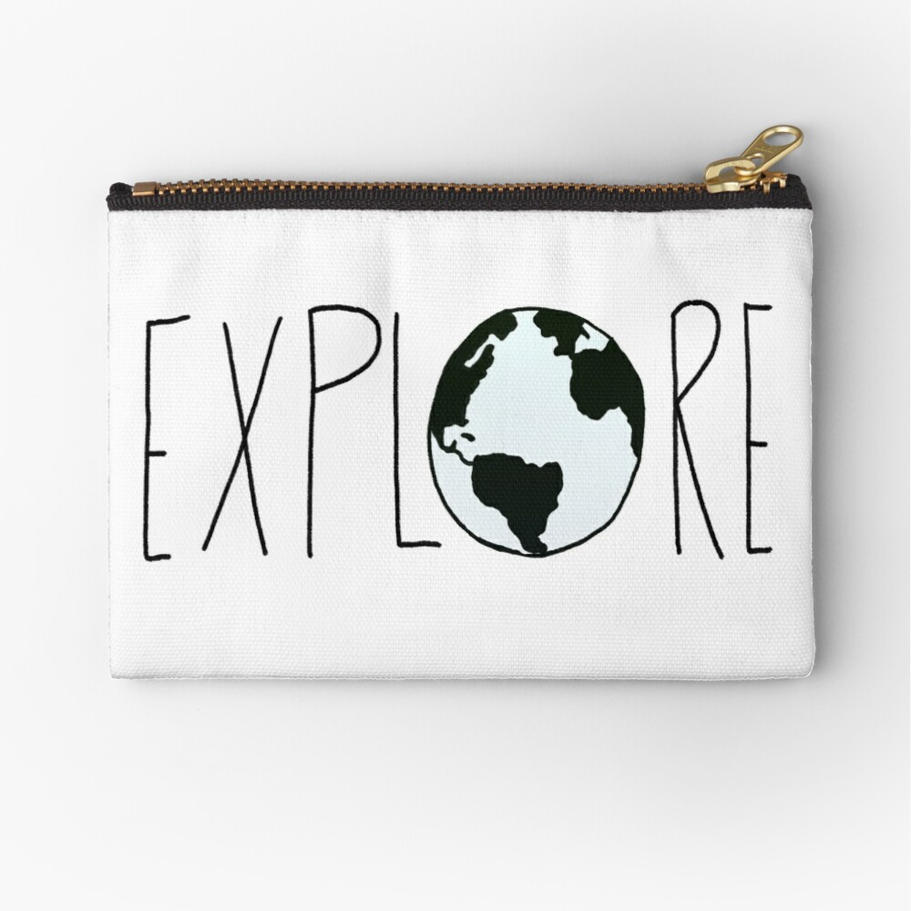 Explore the Globe Zipper Pouch