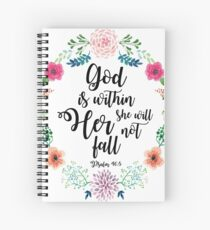 God is within her she will not fall Spiral Notebook