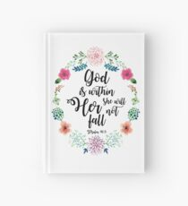 God is within her she will not fall Hardcover Journal