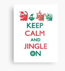Keep Calm and Jingle On Metal Print