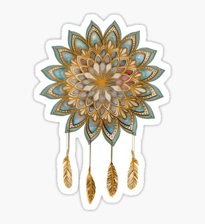Golden Dreams Dreamcatcher Sticker