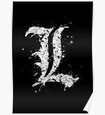 Death Note L Splatter Poster