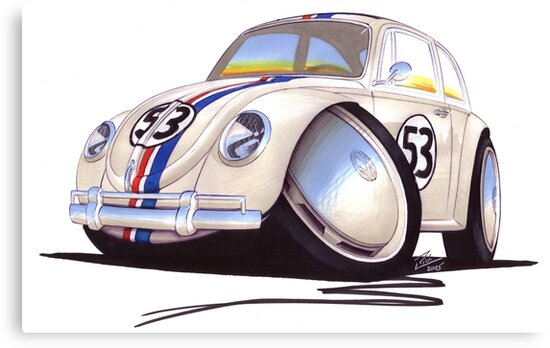 VW Beetle - Herbie by yeomanscarart