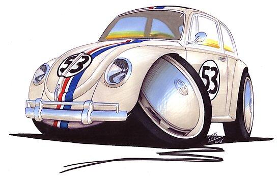 VW Beetle - Herbie by yeomanscarart