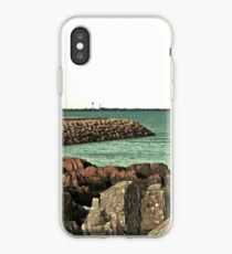 Clogherhead Harbour Wall iPhone Case