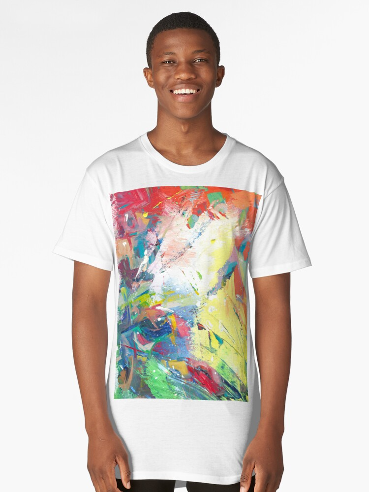 Abstract Long T-Shirt Front