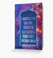 See the Universe Greeting Card
